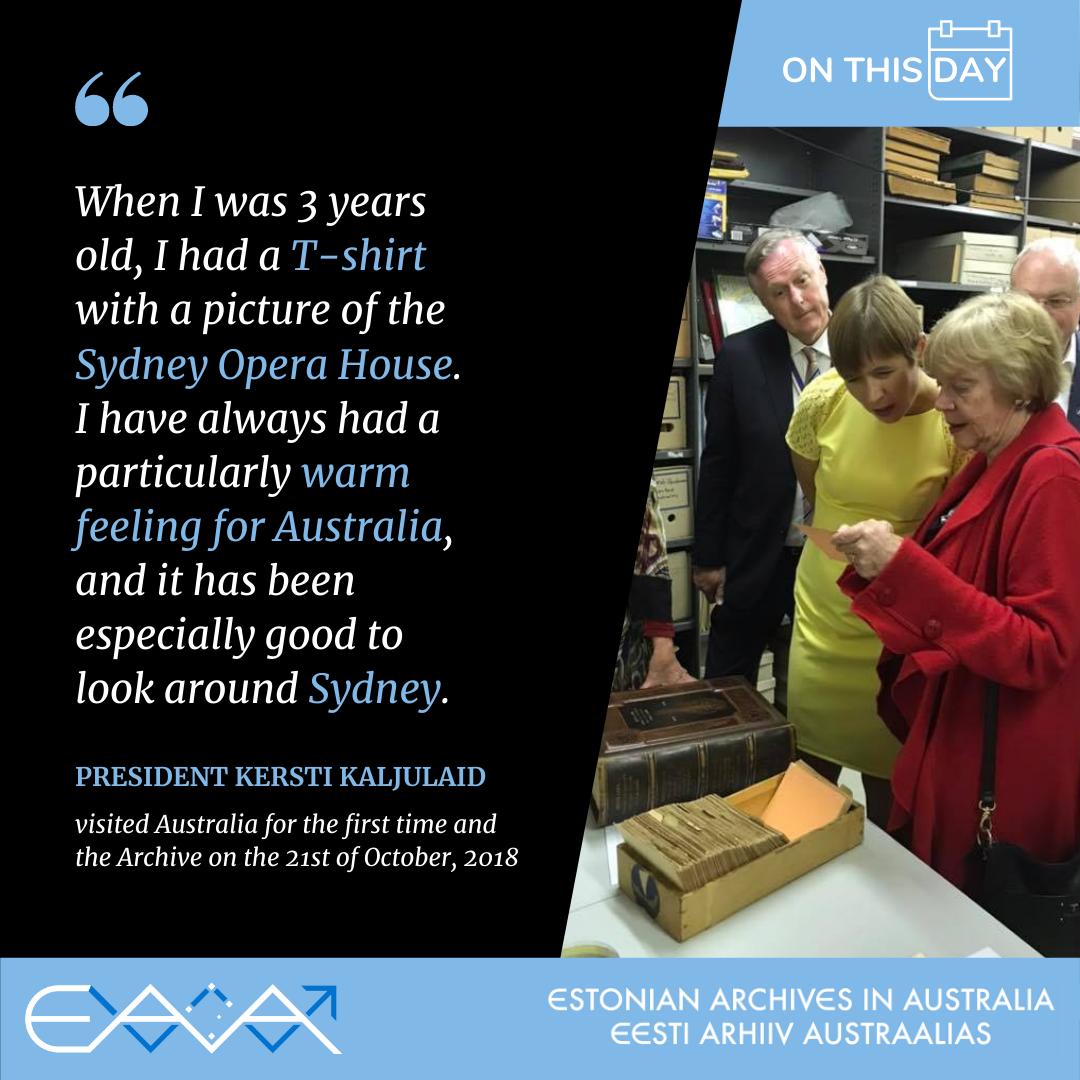 Estonian-President Kersti Kaljulaid visits Sydney, Australia